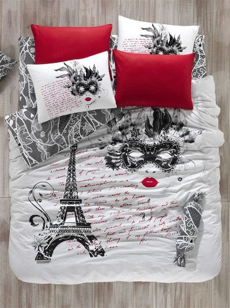 paris bedding set twin 100 cotton 3pcs paris eiffel tower the mask single twin