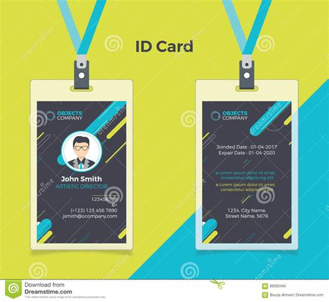 exo id card design creative id card black blue color stock vector image