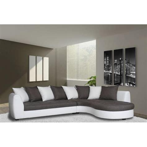 canape d angle blanc pas cher photos canap 233 d angle gris et blanc pas cher