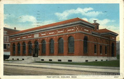 Chelsea Post Office by Post Office Chelsea Ma Postcard