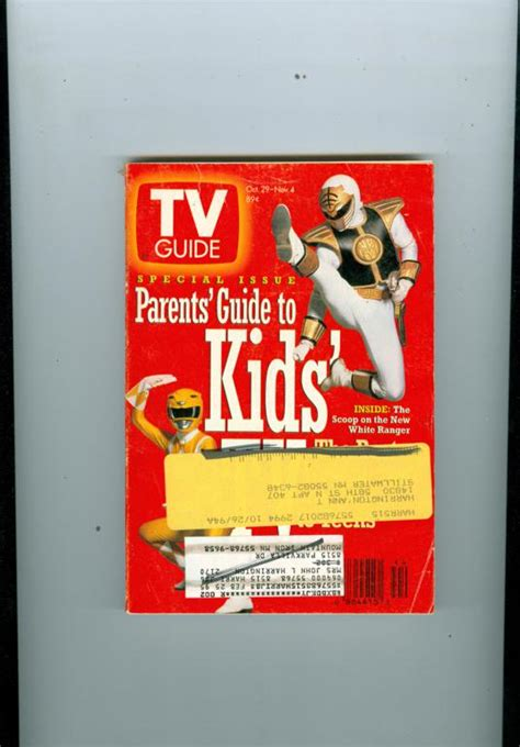 power packed parenting the guide to successful parenting books 1994 tv guide parents guide to tv power rangers