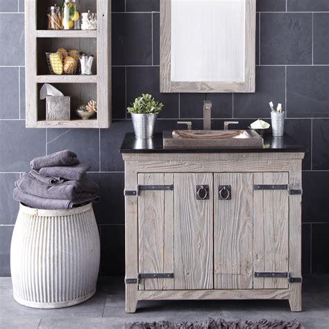 Modern Powder Room Vanity Wood Bathroom Reclaimed Bathroom Cabinet Reclaimed Wood