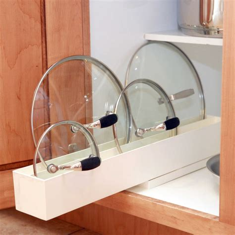 kitchen lid storage a kitchen organizing challenge pot lids core77