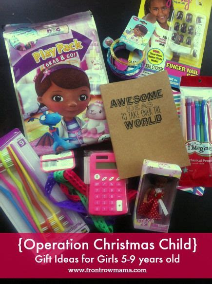 operation christmas child gift ideas for girls ages 5 9