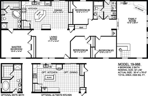 Titan Mobile Home Floor Plans by Titan 988 Twin Lakes Homes Inc