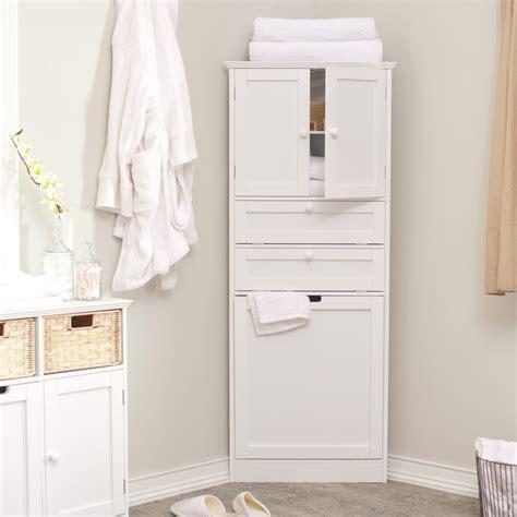 Space Efficient Corner Bathroom Cabinet For Your Small Corner Storage Unit For Bathroom