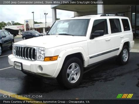 2006 Jeep Commander White White 2006 Jeep Commander Limited Slate