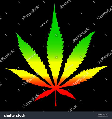 marijuana colors rasta colors cannabis leaf stock vector 68521318