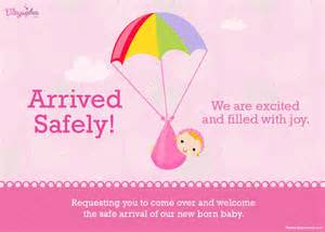 arrived safely birth announcement birthday cards
