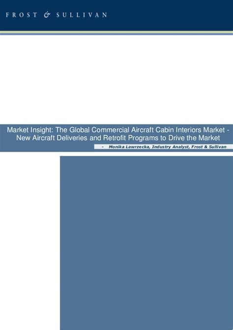 Aircraft Cabin Interior Market by The Global Commercial Aircraft Cabin Interiors Market