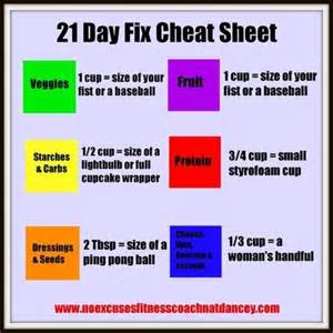 21 day fix color code 21 day fix measurement chart search meal