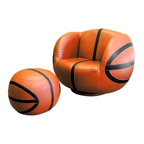 basketball chair and ottoman kids basketball chair ottoman set brown ore