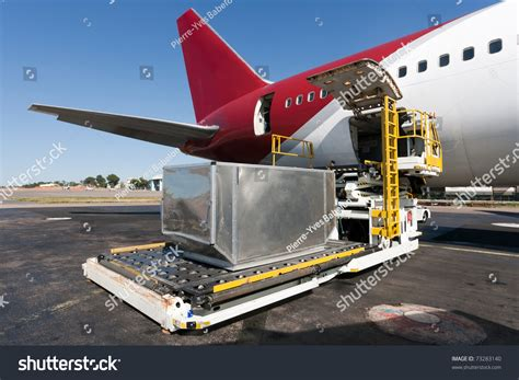 loading platform air freight aircraft stock photo 73283140