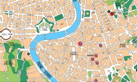 printable street map rome city centre tourist map of rome