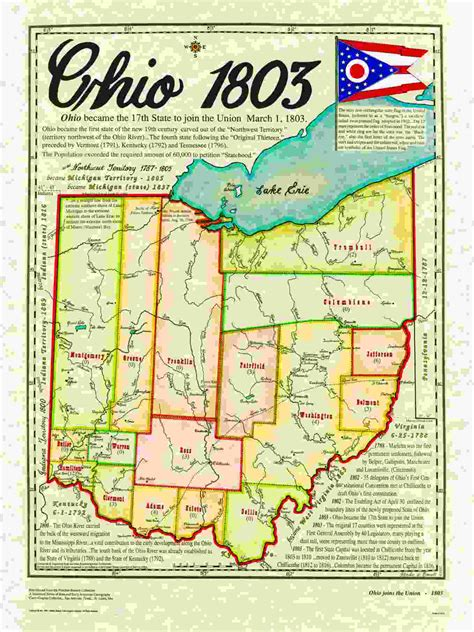 Ohio The 17th State by Statehood Maps