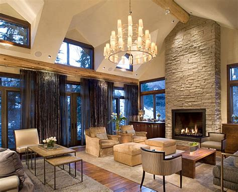 home decoration ceiling mediterranean home decor with high ceiling and fireplace