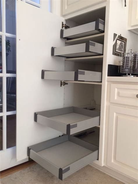 ikea kitchen cabinet shelves ikea rationell pull out shelves w ders retrofitted