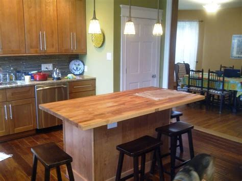 building a kitchen island with seating kitchen butcher block islands with seating cabin staircase farmhouse island diy home
