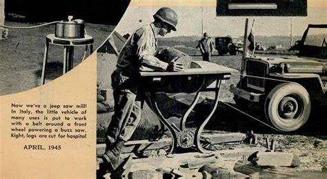 Jeep Mechanic 1945 Jeep Saw Reference In Popular Mechanics Ewillys