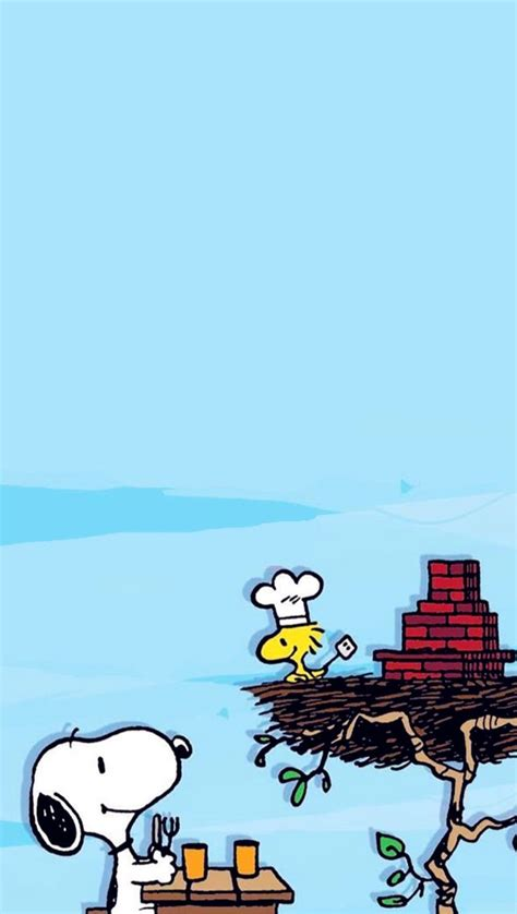 wallpaper iphone 7 snoopy iphone wallpaper snoopy woodstock having a summer cook