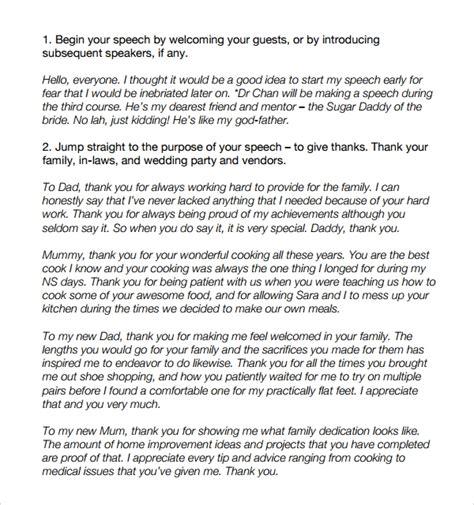 of the speech templates 8 wedding speech exles pdf sle templates