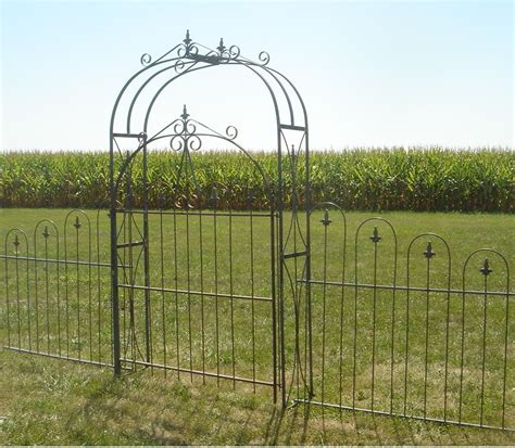 Wrought Iron Garden Fence by Wrought Iron Metal Gates