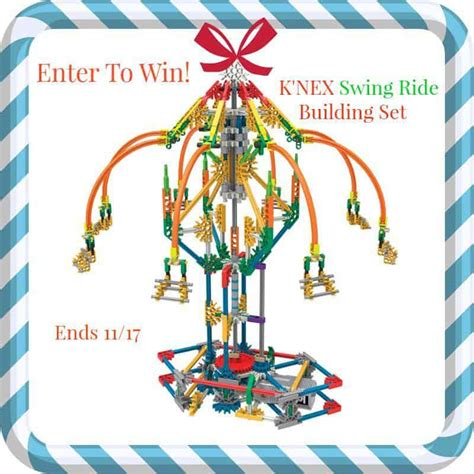 knex super swing k nex swing ride building set mywowgift