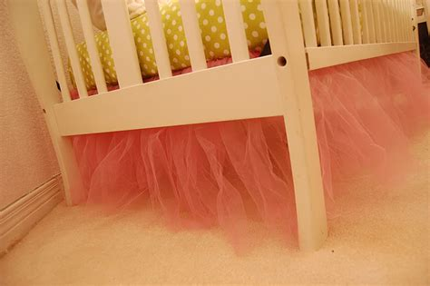 Tulle Crib Bedskirt babblings and more tutu bed skirt