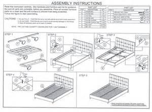 Platform Bed Instructions Modern Beds Jane Platform Bed Eurway Furniture