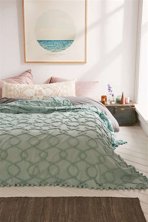 Turquoise Quilts And Coverlets Turquoise Lovona Tufted Coverlet Everything Turquoise