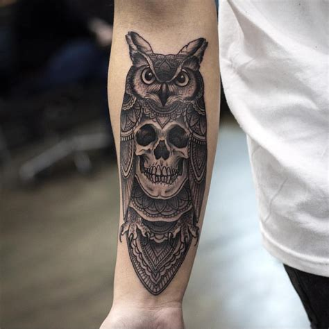 owl skull tattoo owl skull drawing www imgkid the image kid