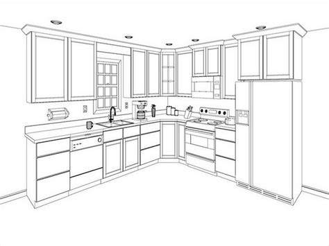 Draw Kitchen Cabinets Www Stroovi