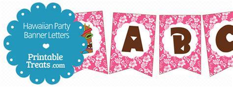 printable pink hawaiian party banner printable treatscom