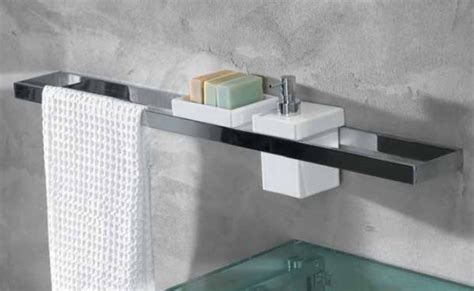 linea beta skuara towel rail and bracket 60cm