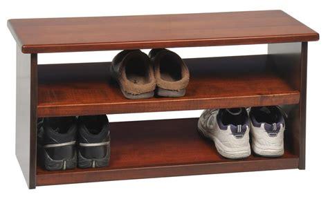 Espresso Vanities Amish Hardwood Shoe Storage Bench