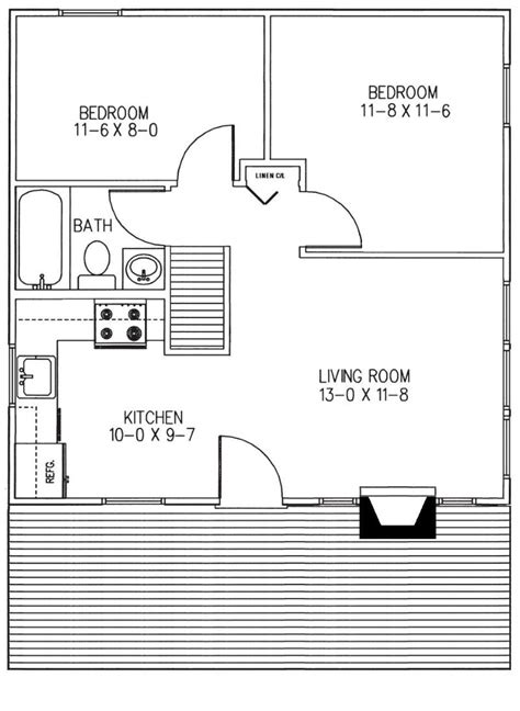 2 Bedroom Cabin Floor Plans 2 Bedroom Cabin Floor Plans Cabin 2 Bedroom House Plans 2