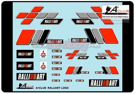 ralliart logo 1 24 ralliart logo decals a dc 2400s a