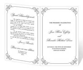 Downloadable Wedding Program Templates by Wedding Program Template Printable Instant