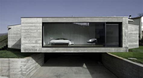 Online House Plans Casa De Cemento Con Fachada Abierta En Girona