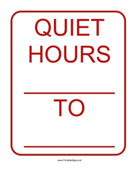 printable quiet signs printable quiet hours sign sign