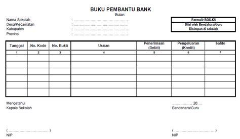 format buku besar 3 kolom buku pembantu bank dan pajak format bos k5 dan k6 deuniv
