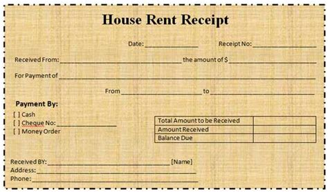house rent receipt template india free house rental invoice rent receipt templates