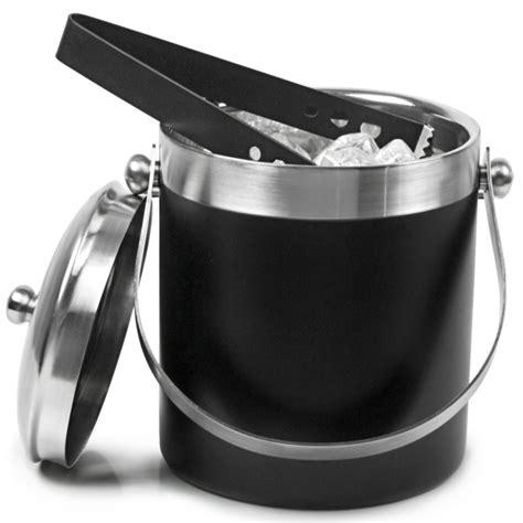 Re Home Kitchen Design Black Enamel Ice Bucket With Tongs Drinkstuff