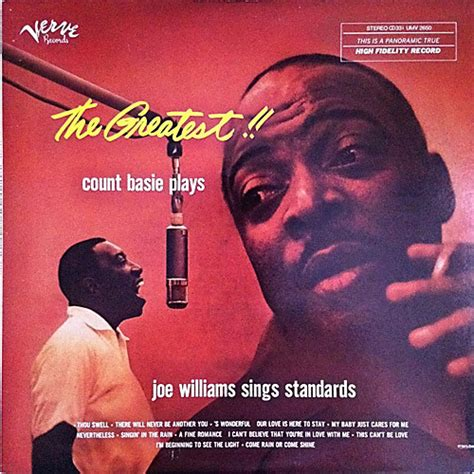 count basie swings joe williams sings count basie the greatest count basie plays joe