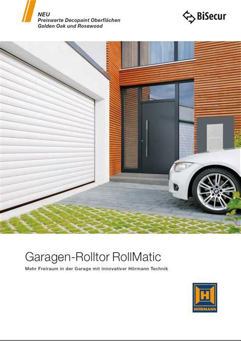 garagen rolltor rollmatic bauelemente credo garagen rolltor rollmatic qualit 228 t