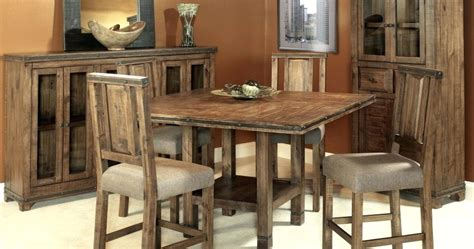 Rustic Counter Height Dining Table Sets Rustic Counter Height Dining Table Sets Pertaining To Inspire Furniture Sncst Rustic
