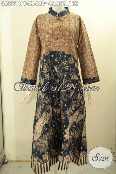 Gamis Pria Jubba Alebas Kombinasi jual gamis batik elegan dengan kombinasi 2 motif