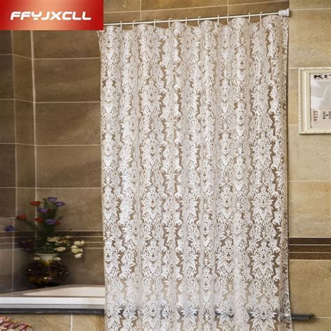buy shower curtains online aliexpress com buy europe floral pattern peva white