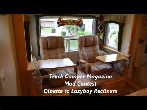 replace rv dinette with sofa how to change an rv dinette to lazyboy recliners youtube
