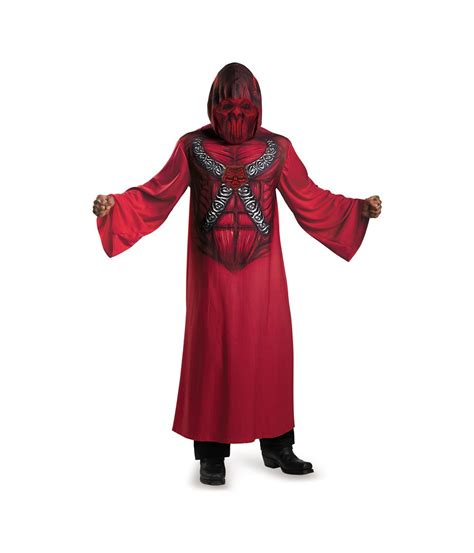 robe costume hooded print robe mens costume scary costumes